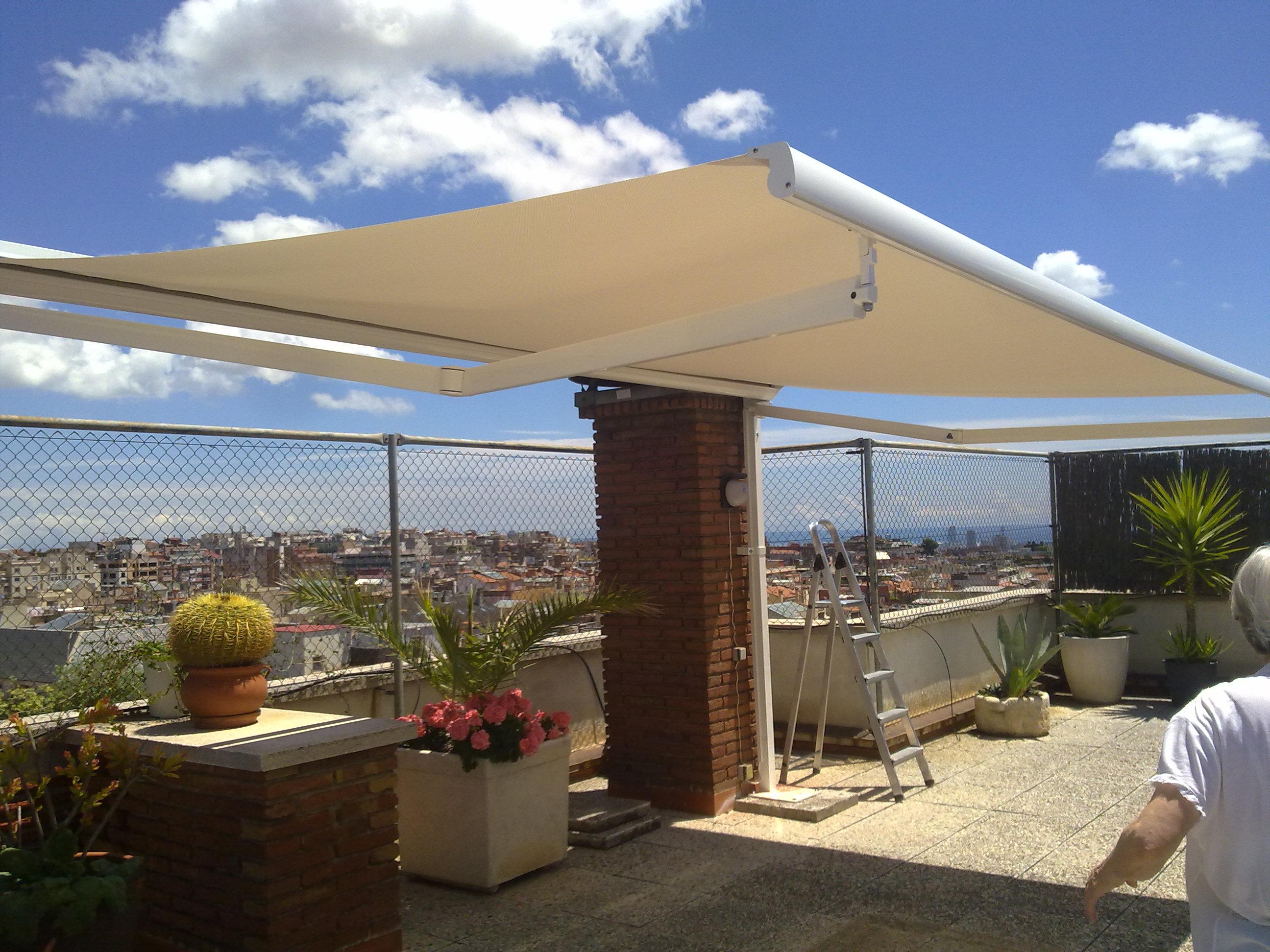 toldo terraza horizontal