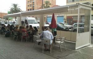 toldo abierto terraza barcelona