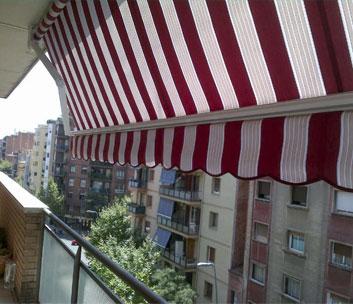 toldo telón balcón