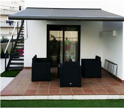 Toldos para terraza y jard n en barcelona tendals natura - Toldos de jardin ...